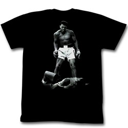 Muhammad Ali - Ali Over Liston Mens T-Shirt In Black