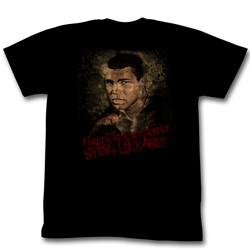 Muhammad Ali - Sting Like A Bee Mens T-Shirt In Black