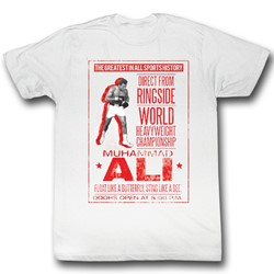 Muhammad Ali - Ali Poster Mens T-Shirt In Dirty White