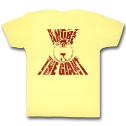 Andre The Giant - Real G Mens T-Shirt In Yellow Heather
