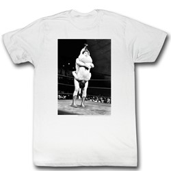 Andre The Giant - Shake Down Mens T-Shirt In White