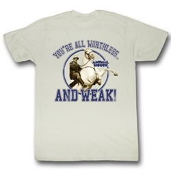 Animal House - Worthless And Weak Mens T-Shirt In White
