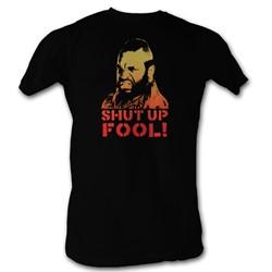 Mr. T - Shut Up Fool Mens T-Shirt In Black