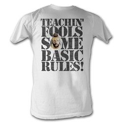 Mr. T - Rules For Fools Mens T-Shirt In White
