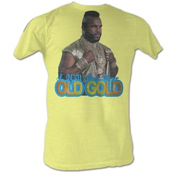 Mr. T - Old Gold Mens T-Shirt In Bright Yellow Heather