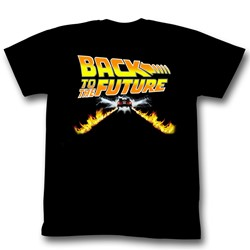 Back To The Future - Btf Car Mens T-Shirt In Black