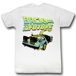 Back To The Future - Btf Neon Mens T-Shirt In White
