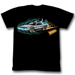 Back To The Future - Time Painting 1 Mens T-Shirt In Black