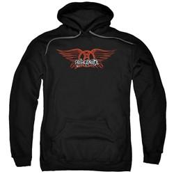 Aerosmith - Mens Winged Logo Pullover Hoodie