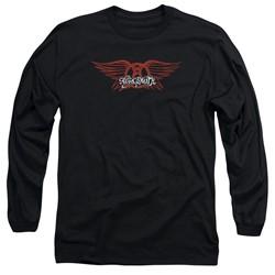 Aerosmith - Mens Winged Logo Long Sleeve T-Shirt