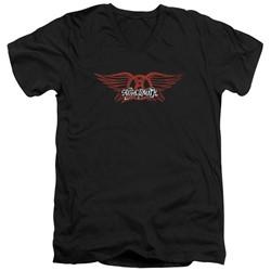 Aerosmith - Mens Winged Logo V-Neck T-Shirt