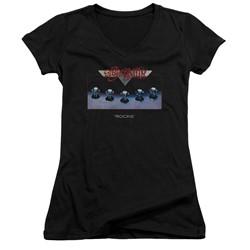 Aerosmith - Womens Rocks V-Neck T-Shirt