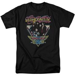 Aerosmith - Mens Triangle Stars T-Shirt