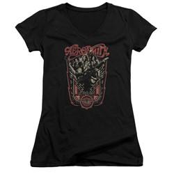 Aerosmith - Womens Let Rock Rule V-Neck T-Shirt