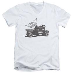Aerosmith - Mens Pump V-Neck T-Shirt