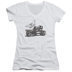 Aerosmith - Womens Pump V-Neck T-Shirt