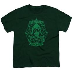 Green Arrow - Big Boys Archer Illustration T-Shirt