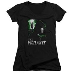Green Arrow - Womens Star City Defender V-Neck T-Shirt