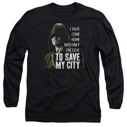 Green Arrow - Mens Save My City Long Sleeve T-Shirt