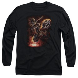 Anne Stokes - Mens Hellrider Long Sleeve T-Shirt