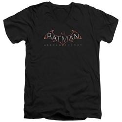 Batman - Mens  Logo V-Neck T-Shirt