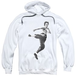 Bruce Lee - Mens Flying Kick Pullover Hoodie