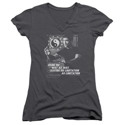 Bruce Lee - Womens No Way As A Way V-Neck T-Shirt