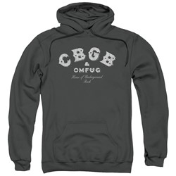Cbgb - Mens Tattered Logo Pullover Hoodie