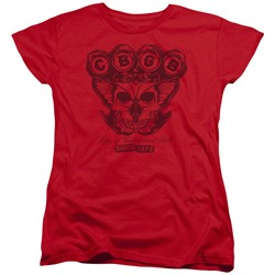 Cbgb - Womens Moth Skull T-Shirt