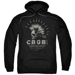 Cbgb - Mens Electric Skull Pullover Hoodie