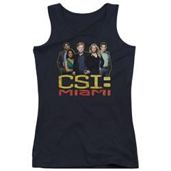 Csi: Miami - Juniors The Cast In Black Tank Top