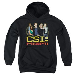 Csi: Miami - Youth The Cast In Black Pullover Hoodie