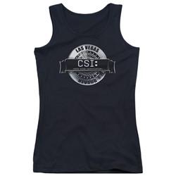 Csi - Juniors Rendered Logo Tank Top