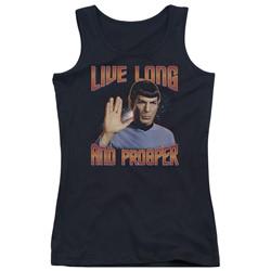 Star Trek - Juniors Live Long And Prosper Tank Top