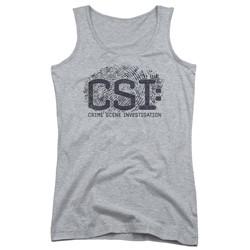 Csi - Juniors Distressed Logo Tank Top