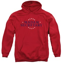 Madam Secretary - Mens Distress Logo Pullover Hoodie