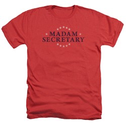 Madam Secretary - Mens Distress Logo Heather T-Shirt