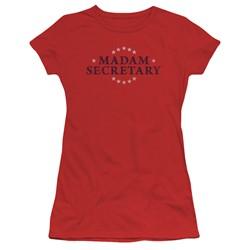 Madam Secretary - Womens Distress Logo T-Shirt