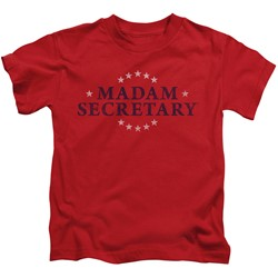 Madam Secretary - Little Boys Distress Logo T-Shirt
