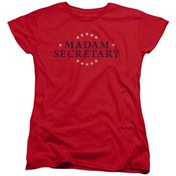 Madam Secretary - Womens Distress Logo T-Shirt