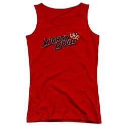 Mighty Mouse - Juniors Might Logo Tank Top