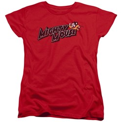 Mighty Mouse - Womens Might Logo T-Shirt