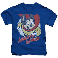 Mighty Mouse - Little Boys Mighty Circle T-Shirt