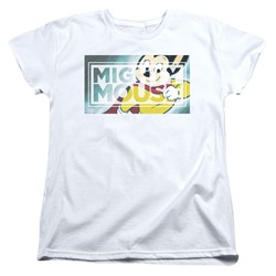 Mighty Mouse - Womens Mighty Rectangle T-Shirt
