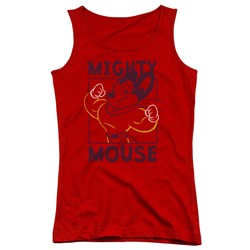 Mighty Mouse - Juniors Break The Box Tank Top