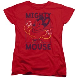 Mighty Mouse - Womens Break The Box T-Shirt