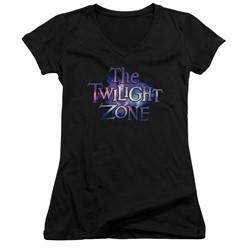 Twilight Zone - Womens Twilight Galaxy V-Neck T-Shirt
