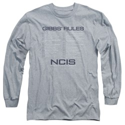 Ncis - Mens Gibbs Rules Long Sleeve T-Shirt
