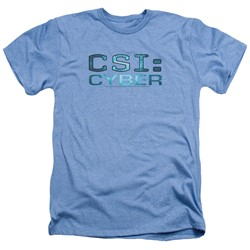 Csi: Cyber - Mens Cyber Logo Heather T-Shirt