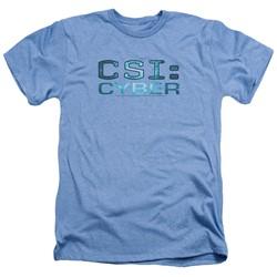 Csi: Cyber - Mens Cyber Logo Heather T-Shirt